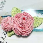 モチーフ編み練習 巻きバラコサージュ(*´꒳`*)